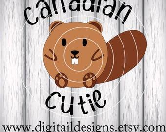 Canadian Cutie SVG - png -dxf - eps - ai - fcm - Beaver SVG - Canadian Beaver SVG - Silhouette - Cricut - Scan n Cut - Commercial Use