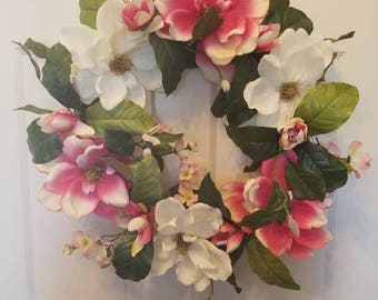 Spring wreath/ summer wreath/ holiday wreath/ housewarming wreath/ housewarming gift/ top selling wreath/ door wreath / front door wreath