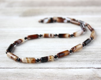 Mens Beaded Necklace