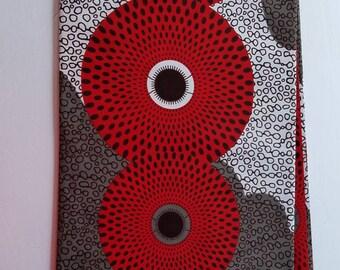 Red, White And Gray Ankara Fabric; African Clothing; African Fabric; African Fabric in yard; African Headwrap;African print fabric ;Ankara