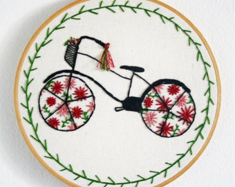 A Ride Through The Park - Hand Embroidered Wall Hanging