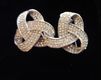 """Rare  1930s Rhinestone Belt Buckle for an Evening Gown Model """" A"""" Era Item #747 Jewelry"""