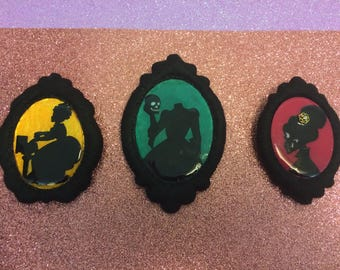Goth style Brooches