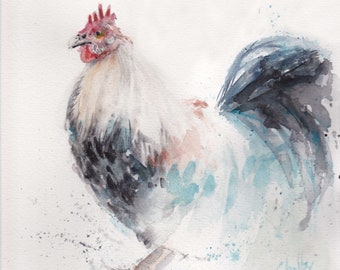 ORIGINAL - Rooster Watercolor