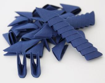 250pcs Sapphire Blue 3D Origami Paper Triangles