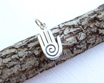 Sterling Silver Healing Hand Charm -- 1 Piece... Sterling Silver Pendant