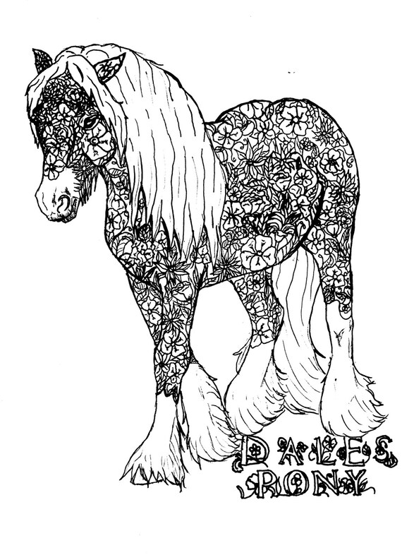 items similar to dales pony coloring book page on etsy