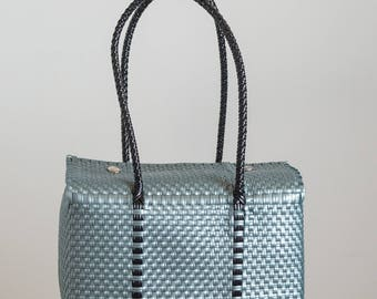 Small Silver Handbag-Eclipse Lunar