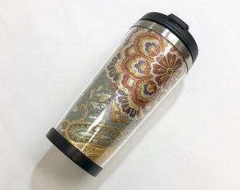Tumbler Japan Kimono Obi Nishijin  Coffee