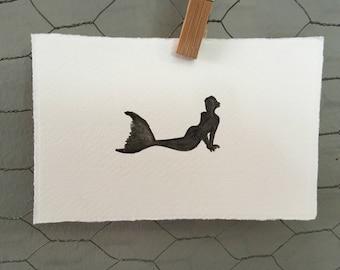 Mermaid Watercolour Art Card