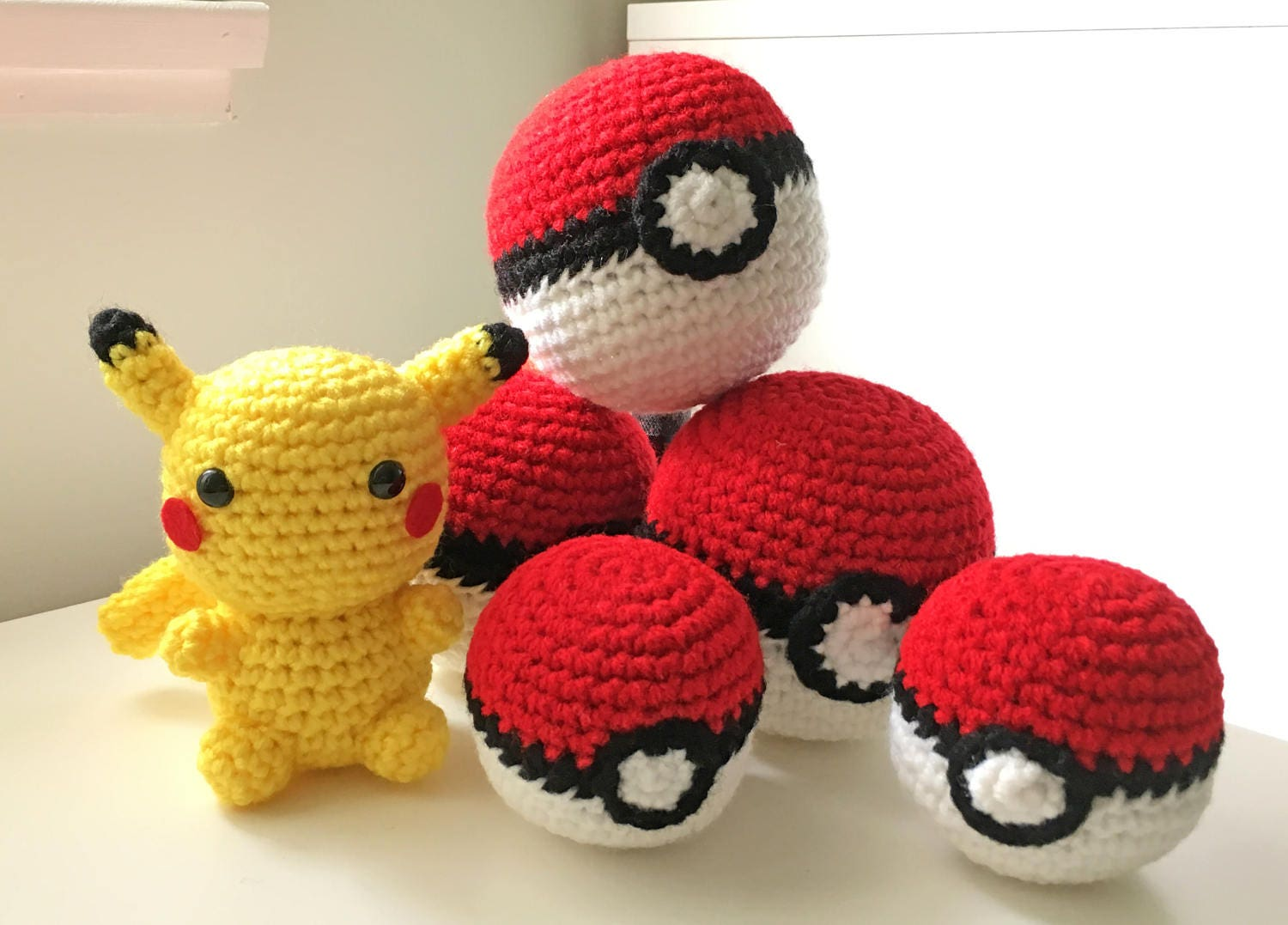 Pokeball Toy Crochet Pokeball Amigurumi Pokemon Ball Plush