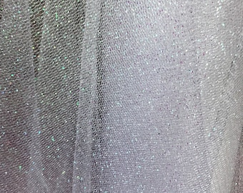 "Sparkling Glitter Tulle Fabric Available In Many Colors 60"" Wide Sold By The Yard Or Roll"