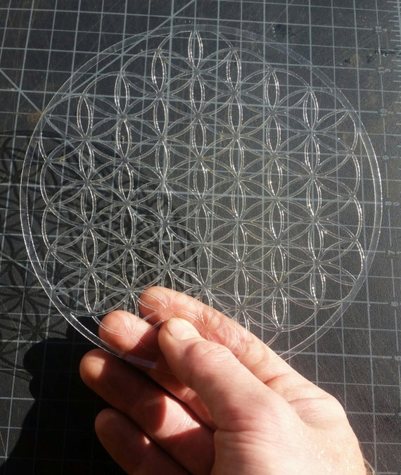 Mini Full Bloom Flower of Life Sacred Geometry Stencil
