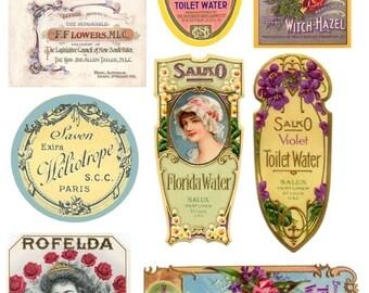 INSTANT DOWNLOAD DIGITAL Vintage Labels Collage Sheet