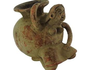 Figural Clay Pot Vase Vessel Mexico 113624