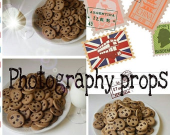 Photography Props home staging cookie jar fillers fake cookies 100 pieces