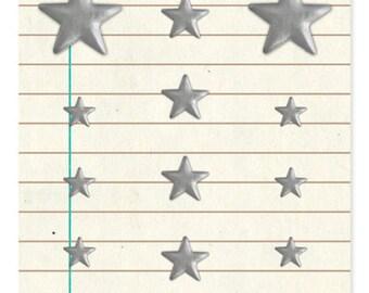 Basic Grey Basics Metal Studs - Silver Stars -- MSRP 4.00