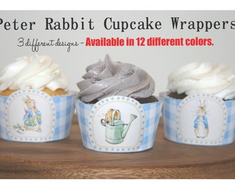 Peter Rabbit Cupcake Wrappers, Cupcake Wrappers, Printable Cupcake Wrappers, Digital Download Cupcake Wrappers