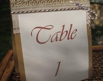 Number of table range |mariage dentelle|