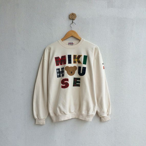 Vintage Miki House Sweatshirt Embroidery Spellout Nice Design