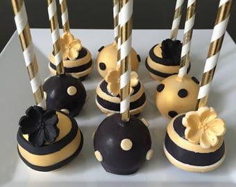 Cake Pop - Black & Gold