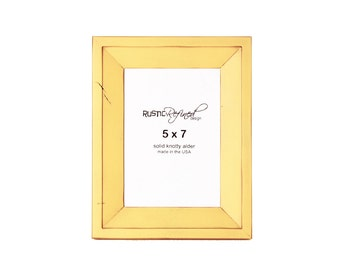 5x7 Haven picture frame - Daffodil, Free Shipping