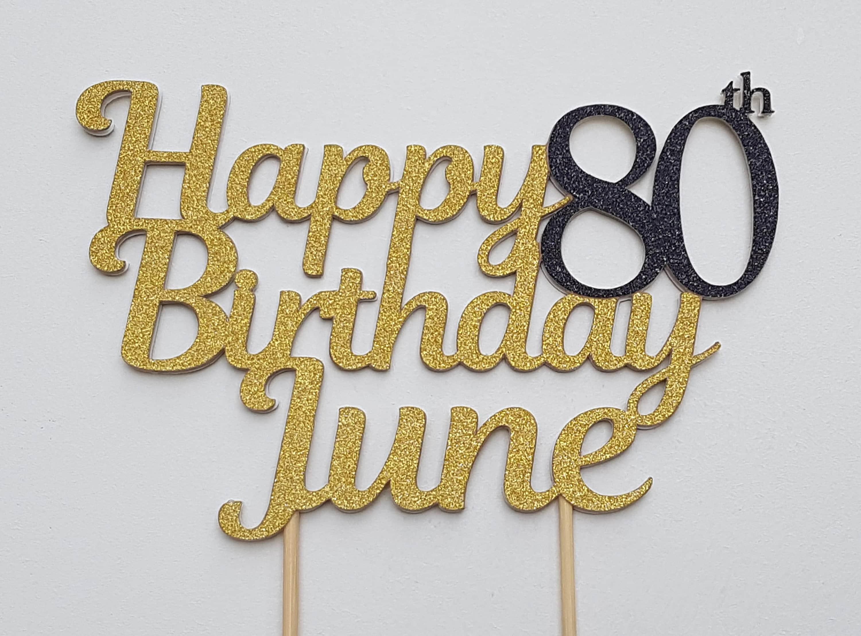 80th Birthday Cake Topper 80th Birthday Decorations 80 Cake Topper