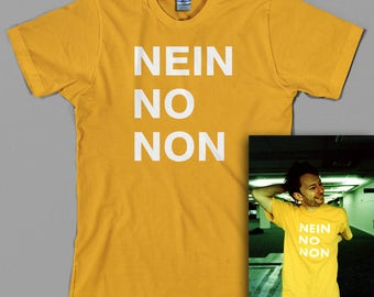 Nein No Non T Shirt, Thom Yorke (as worn by), radiohead, rock, 90s, uk, gift, music, fashion - Graphic Tee, All Sizes & Colors