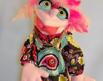 Girlie Hand Puppet or Ventriloquist Figure