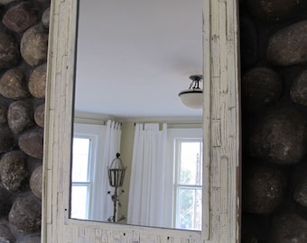 Reclaimed Wood Beach Mirror