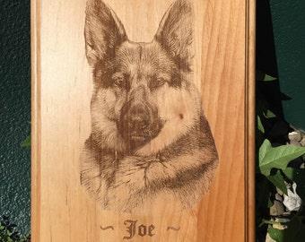 Custom Engraved Alder Wood Plaque