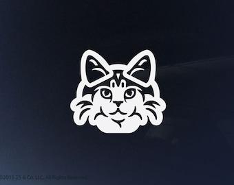 Norwegian Forest Cat Vinyl Decal | Car Sticker, Decoration | 25 & Co