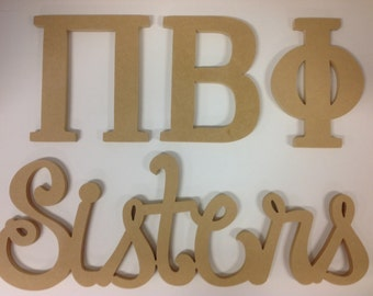 Pi Phi sorority, Greek letters,  Pi Beta Phi, big little, sorority letters , unfinished Greek letters