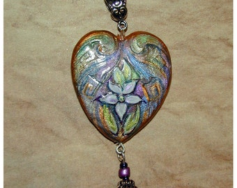 Angelic Large Valentines Day Heart Be My Valentine Pendant