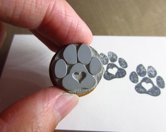 Love a Paw Rubber Stamp O014