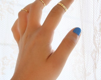 Thin ring, knuckle rings, above knuckle rings, midi gold rings, thin rings, stackable rings, gold knuckle rings A548