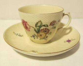 ON SALE Vintage Flower Tea Cup and Plate Set