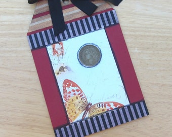 Beautiful Butterfly Extra Large Gift Tag, Hang Tag, Greeting Card Tag, Bookmark PSS 2022