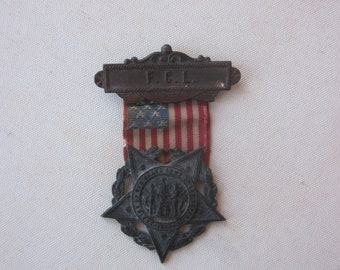 Post Civil War 1886 F.C.L. Ladies of the Grand Army of the Republic GAR Medal Badge