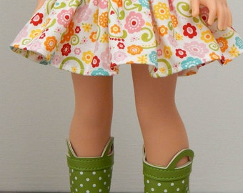 14.5 inch Doll Clothes-Happy Day Skirt
