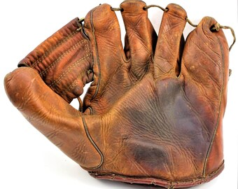 Antique Vintage Reach Baseball Glove Patent No. 2231204 Made in 1941