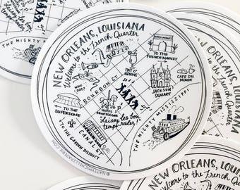 "New Orleans, Louisiana 4"" Vinyl Sticker"
