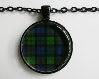 GORDON Clan SCOTTISH TARTAN Necklace -- Scottish Wedding Necklace, Bridesmaids, Hen Night, Family plaid, Friendship token