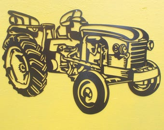 Plate teaches decorative tractor RENAULT D22