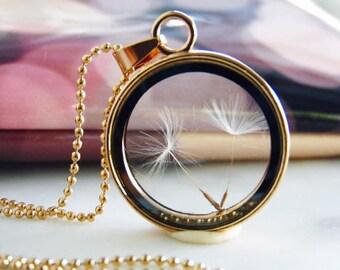 Dandelion neckace, Gift for her, dried flower necklace, resin necklace, resin jewelry, resin flower jewelry, flower jewelry, earth jewelry