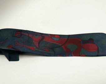 Dali style surreal tie