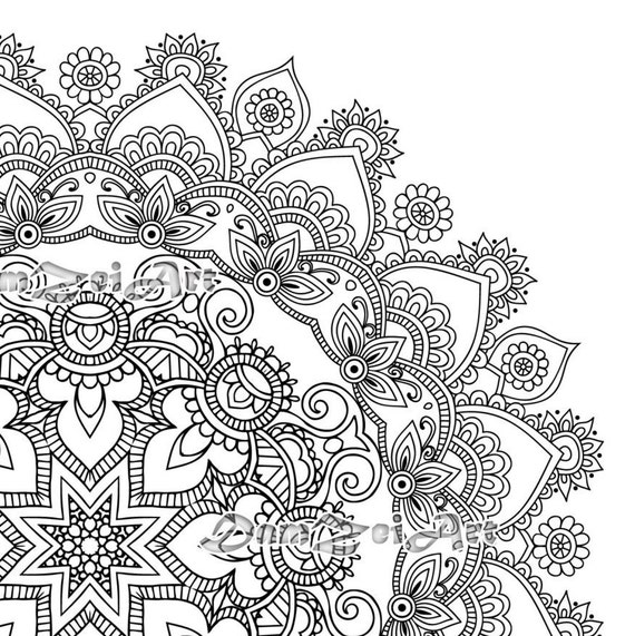 Mandala Coloring Pages Printable Pdf Blank Mandala Designs