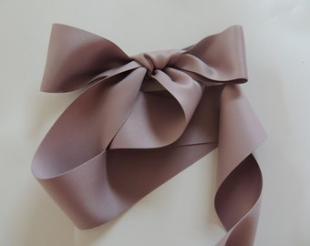 """Taupe Mauve Blush Dusty Rose 2"""" 50mm Matte Double Sided Ribbon Wedding Gown Sash"""