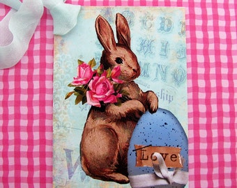 Easter Rabbit Love Tags