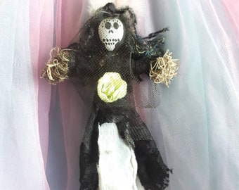 Mamam Brigitte, Authentic Voodoo Doll, Handmade, one of a kind New Orleans style, Voodoo Goddess Altar Doll, Death Loa, wife of Baron Samedi